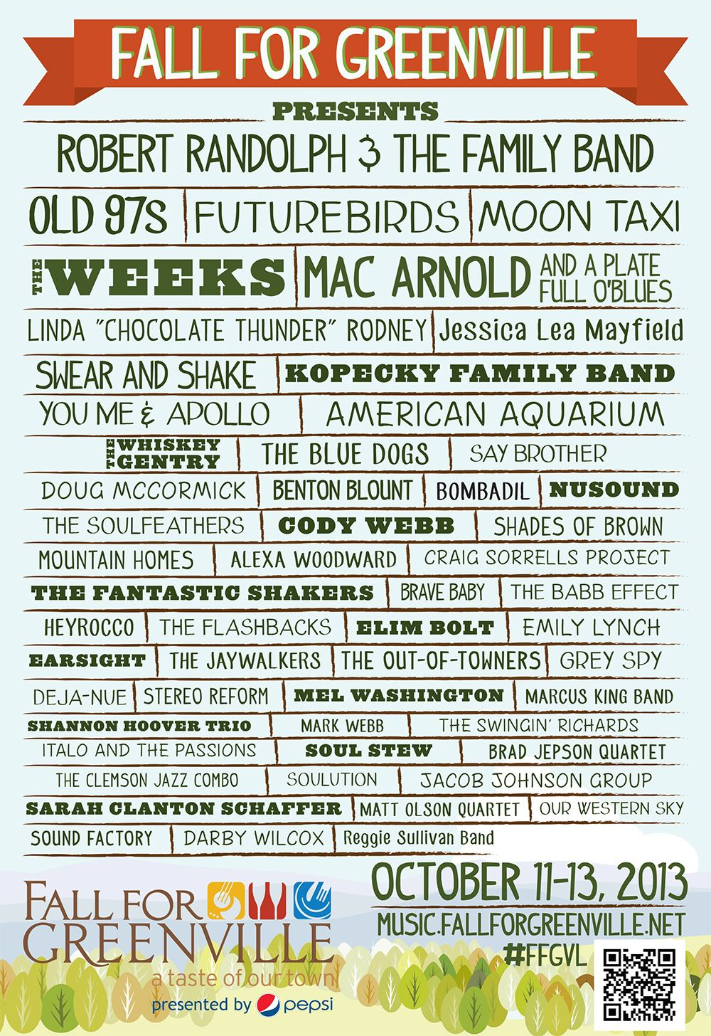 2013 Lineup Poster