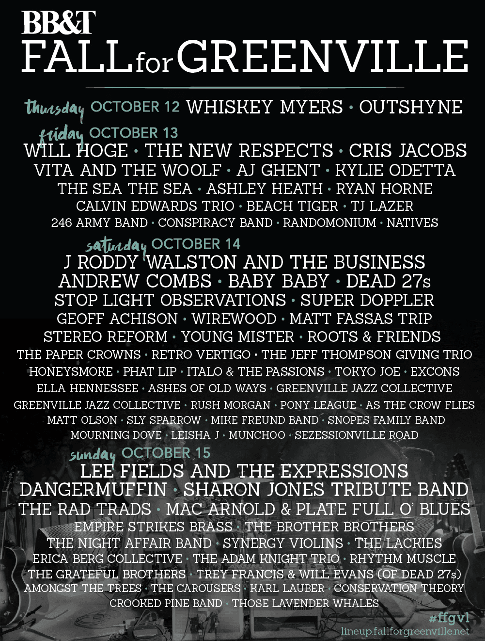 Poster listing 2017 musical lineup